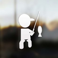 Family boy fisherman sticker