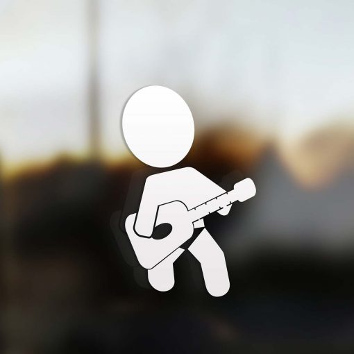Family boy sticker guitarist