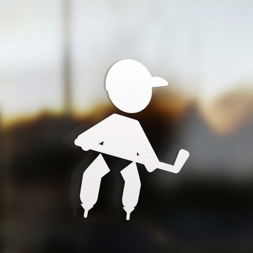 Family boy sticker hockey player