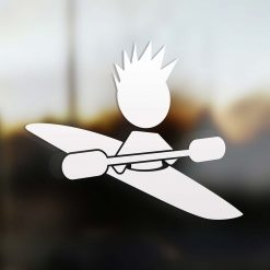 Family boy kayaker sticker