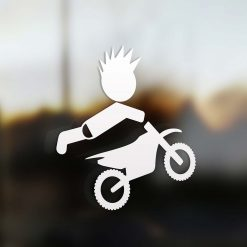 Family boy motocross rider sticker