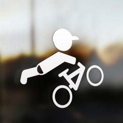 Family boy sticker mountain bike rider