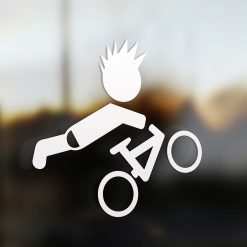 Family boy mountain biker sticker