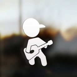 Family dad sticker guitarist
