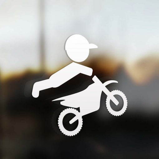 Family dad sticker motocross rider