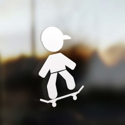 Family dad sticker skate rider