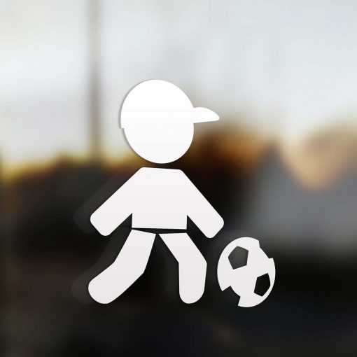 Family dad sticker soccer player