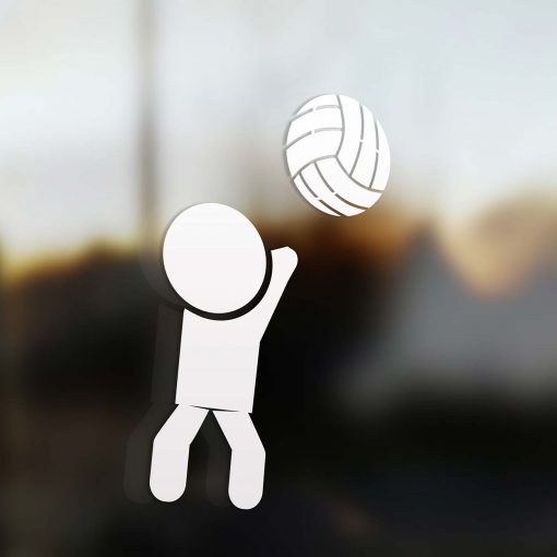 Family dad sticker volleyball player
