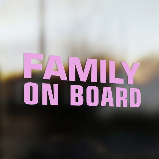 Family on board sticker pink