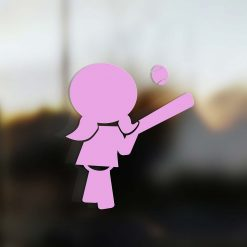Family Girl sticker baseball player pink