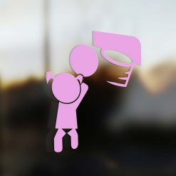 Family Girl sticker basketball player pink