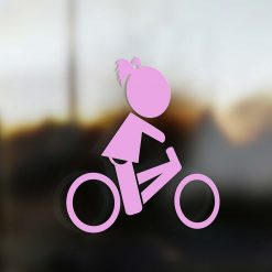 Family Girl sticker road bike pink