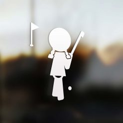Family Girl sticker golf player