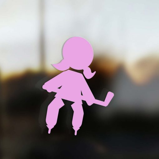 Family Girl sticker hockey player pink