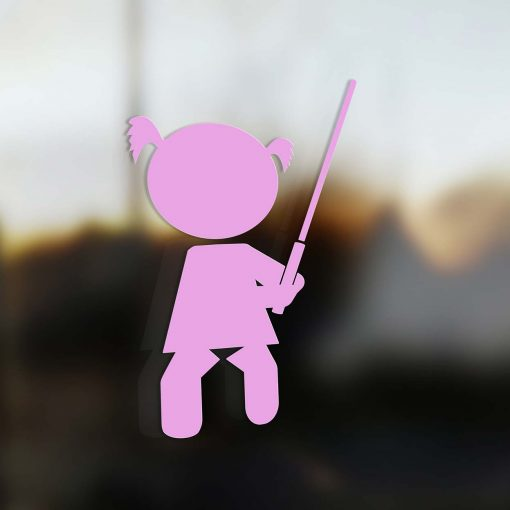 Family Girl sticker jedi pink