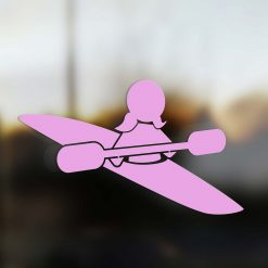 Family Girl sticker kayak pink