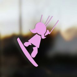Family Girl sticker kiter pink