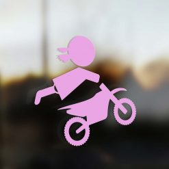 Family Girl sticker motocross rider pink
