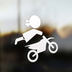 Family girl motocross rider sticker