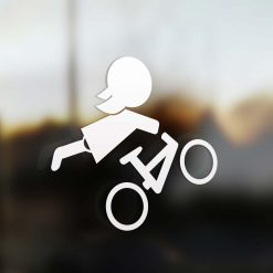 Family girl mountain bike sticker