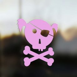 Family Girl sticker pirate pink