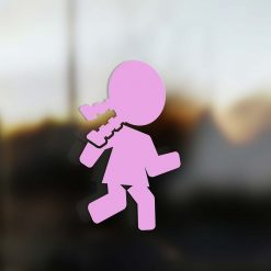 Family Girl sticker runner pink