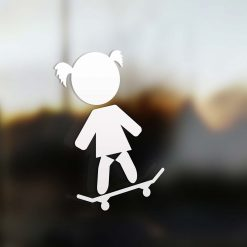 Family girl skate sticker