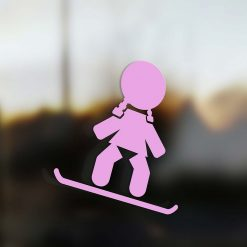 Family Girl sticker snowboard rider pink