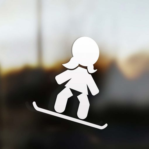 Family Girl sticker snowboard rider