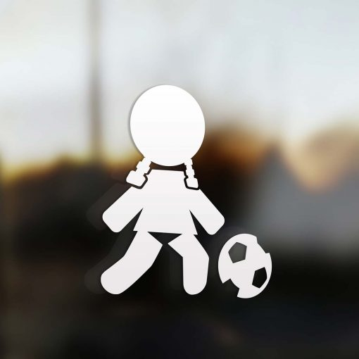 Family girl soccer sticker