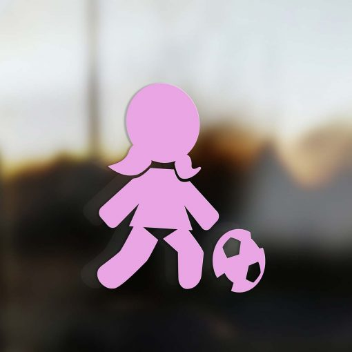 Family Girl sticker soccer player pink