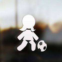 Family Girl sticker soccer player
