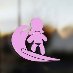 Family Girl sticker surfer pink