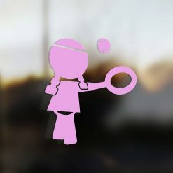 Family Girl sticker tennis player pink