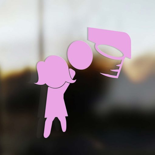 Family Mom sticker basketball player pink