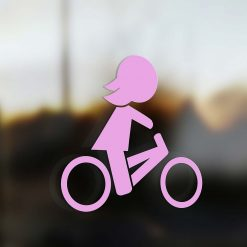 Family Mom sticker road bike pink