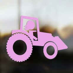 Family Mom sticker farmer pink