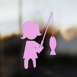 Family Mom sticker fisherman pink