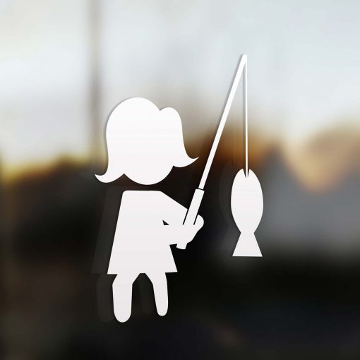 Family Mom sticker fisherman