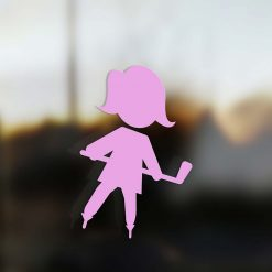 Family Mom sticker hockey player pink