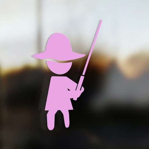 Family Mom sticker jedi pink
