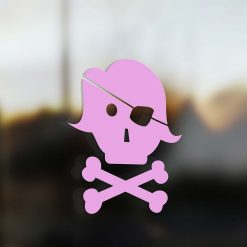 Family Mom sticker pirate pink