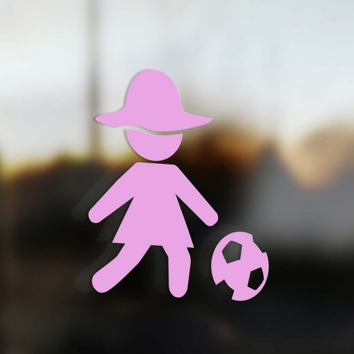 Family Mom sticker soccer player pink