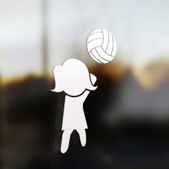 Family Mom sticker volleyball player