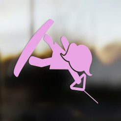 Family Mom sticker wakeboard rider pink