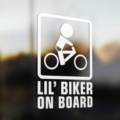 Lil' city bike on board car sticker