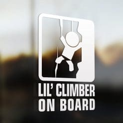 Lil' climber on board car sticker