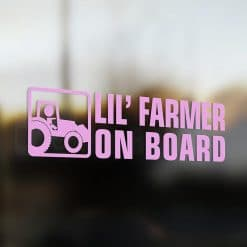 Lil' farmer on board car sticker