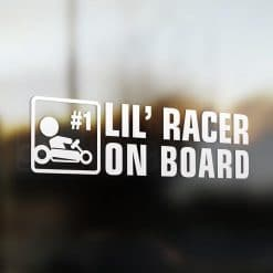 Lil' go-cart racer on board car sticker