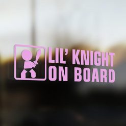 Lil' knight on board car sticker